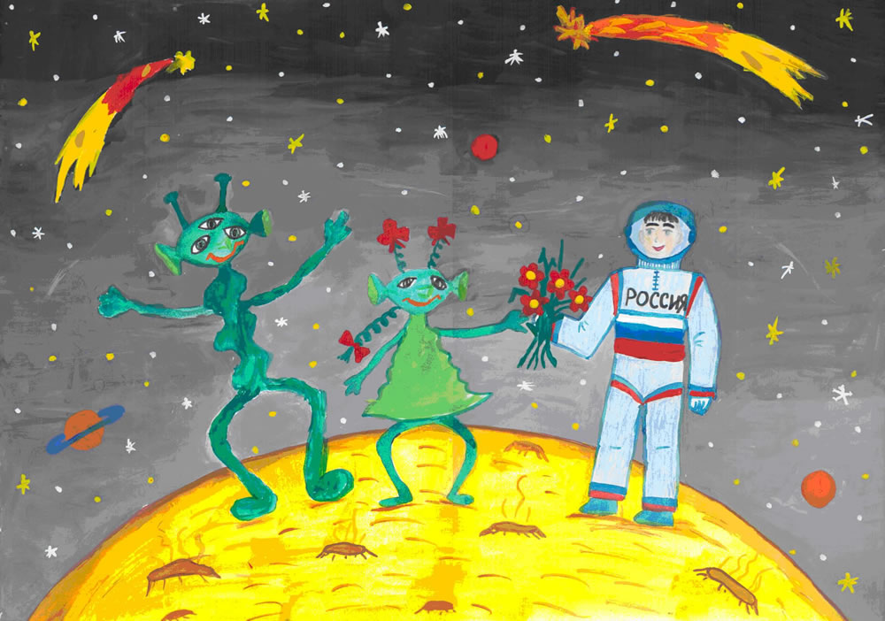 Рисунки на космическую тему